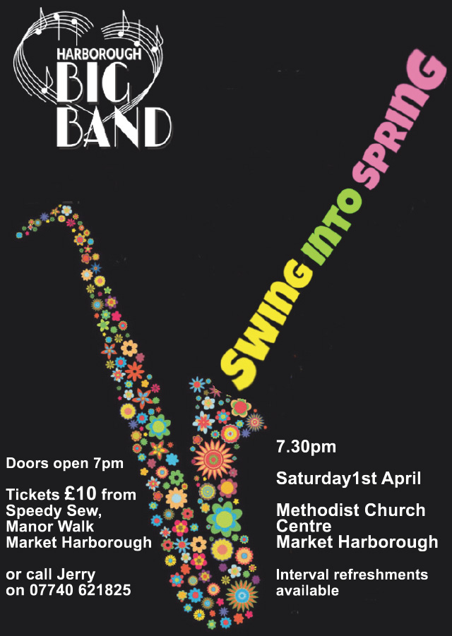 "Harborough Big Band ""Swing into Spring"", Saturday 1st April"
