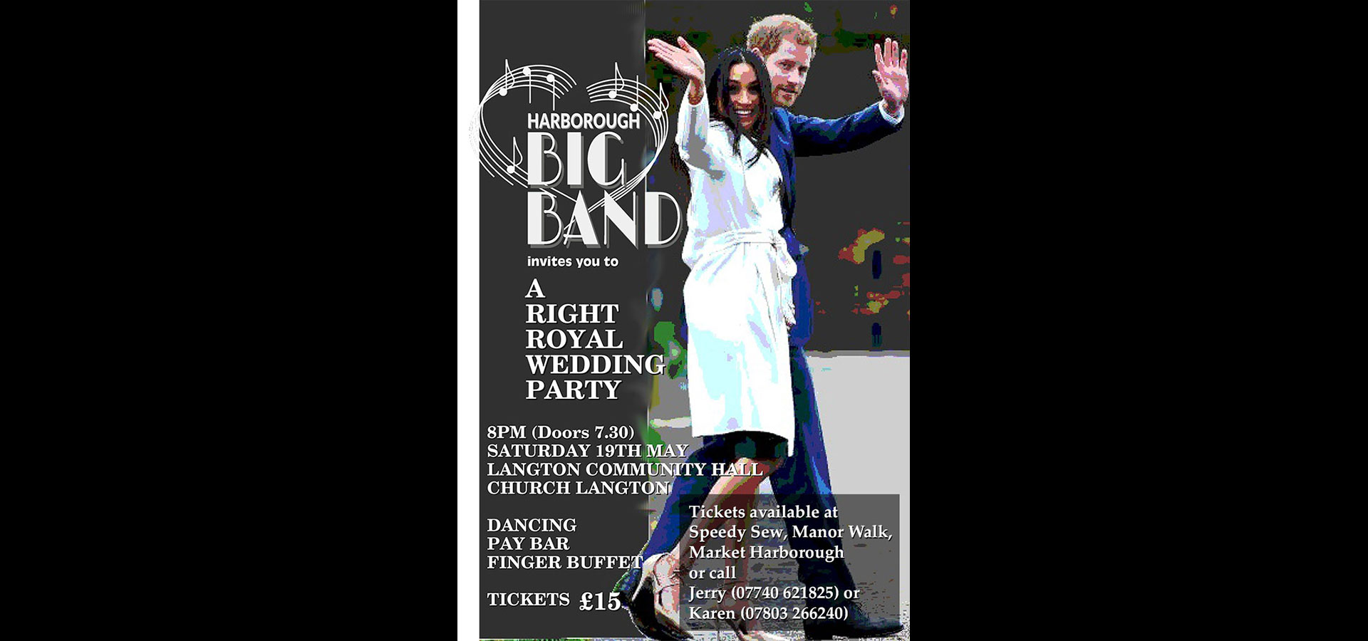 "Harborough Big Band: ""A Right Royal Wedding Party"" Saturday 19th May"