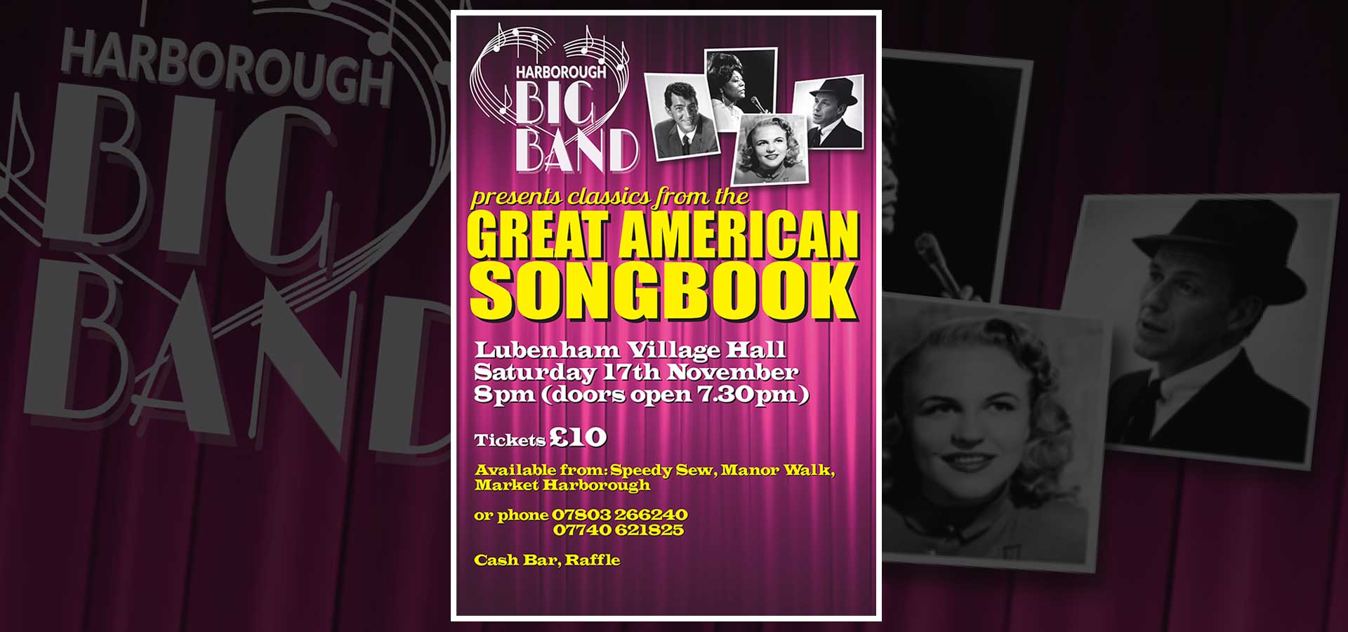 "Harborough Big Band ""The Great American Songbook"", Saturday 17th November"